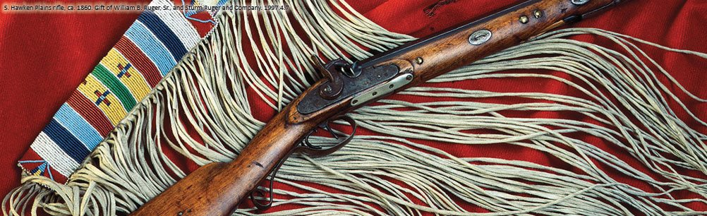 S. Hawken Plains rifle, ca. 1860. 1997.4.7