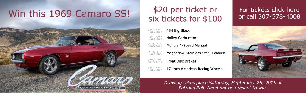 Buy your raffle tickets for this 1969 Chevy Camaro SS