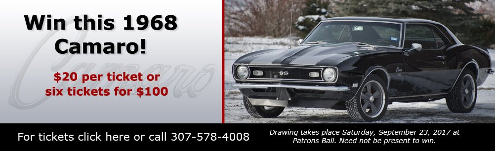 Win this 1968 Camaro in our raffle!