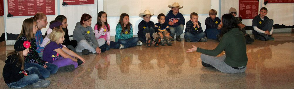 School classes visit the Buffalo Bill Center of the West for guided and self-guided tours