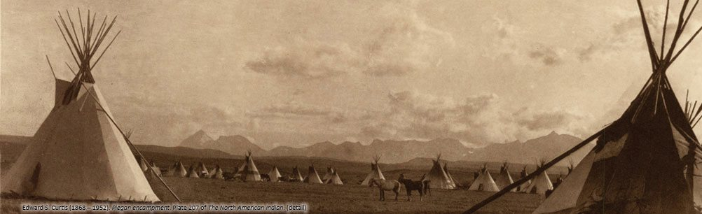 Edward S. Curtis's 'Piegan Encampment,' Plate 207 of 'The North American Indian.'