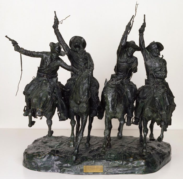 Frederic Remington (1861 – 1909). Coming Through the Rye, 1902. Bronze. Gift of Barbara S. Leggett. 5.66