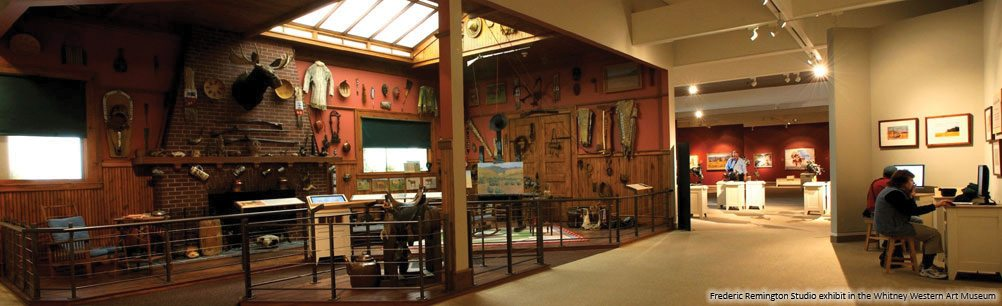 Frederic Remington Studio exhibit in the Whitney Western Art Museum