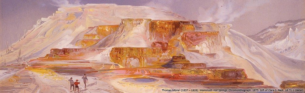 "Thomas Moran. ""Mammoth Hot Springs."" 18.71.1"