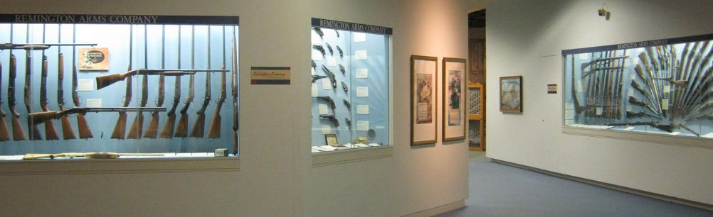 Remington firearms gallery in the Cody Firearms Museum
