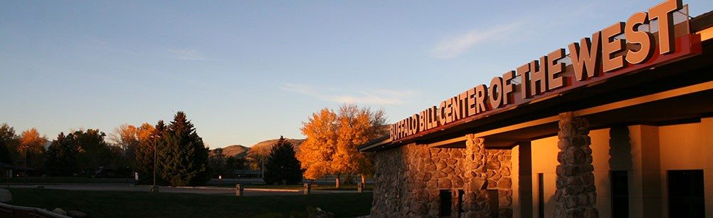 Buffalo Bill Center of the West sign on south side, fall 2014