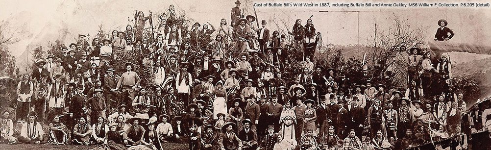Cast of Buffalo Bill's Wild West in 1887. P.6.205