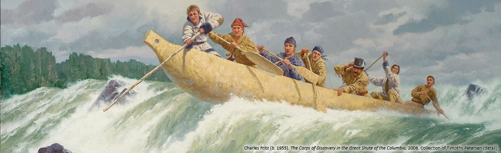 Charles Fritz's 'The Corps of Discovery in the Great Shute of the Columbia, 2006.