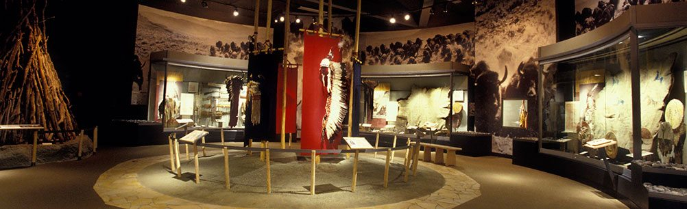 'Buffalo and the People' gallery in the Plains Indian Museum
