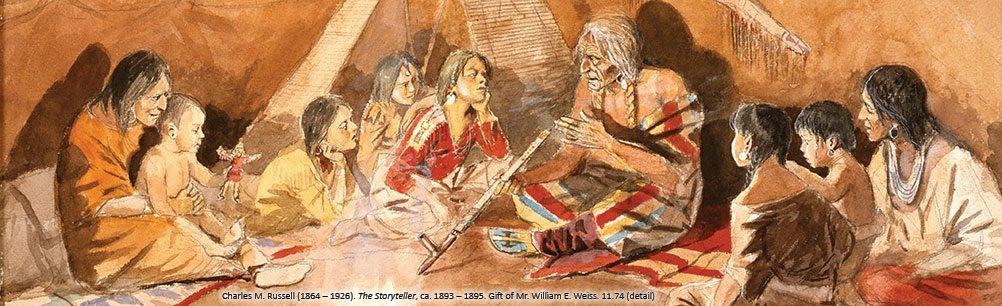 Charles M. Russell's 'The Storyteller.' 11.74