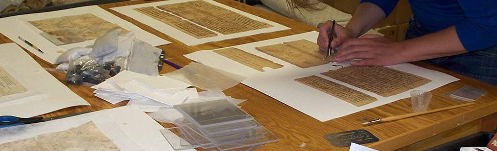 Conservation interns train to treat a variety of objects and materials