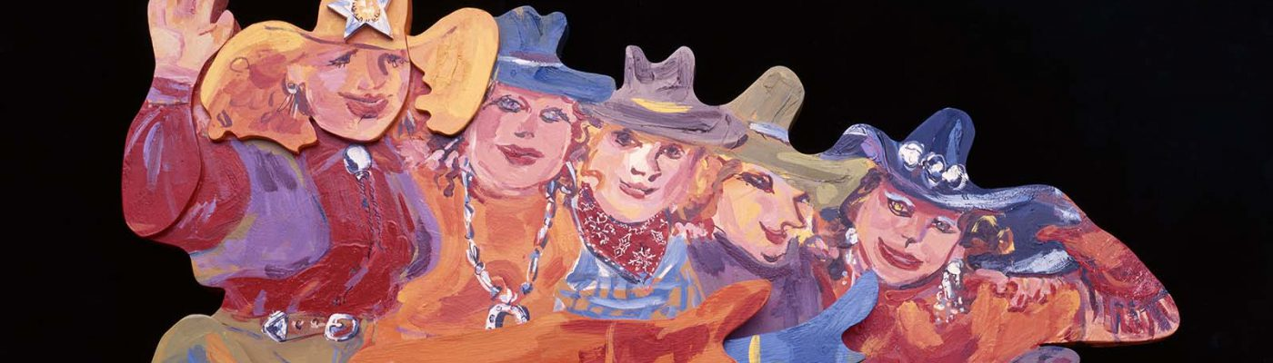Audrey Roll-preissler, 'Western Chorus Line,' 1993. Gift of Mr. and Mrs. W.D. Weiss. 16.96.2 (detail)