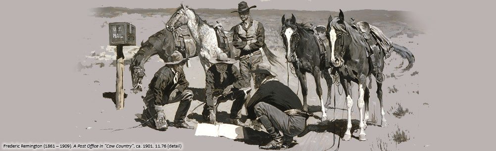 Frederic Remington's 'A Post Office in Cow Country,' 11.76