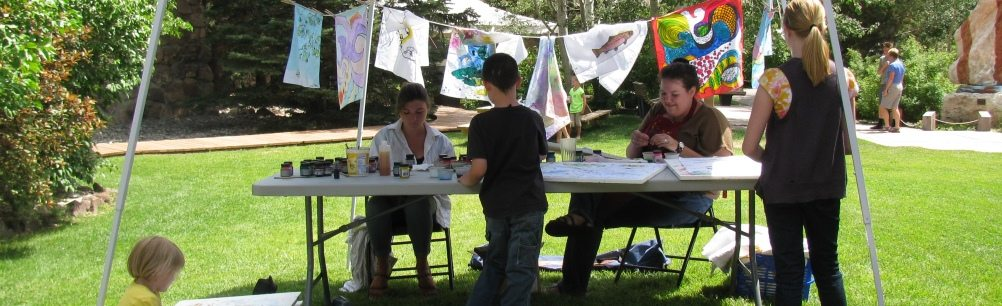 art in the garden banner