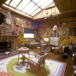 Remington's studio interior