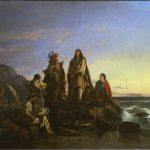 allegorical painting of Blackfeet Indians