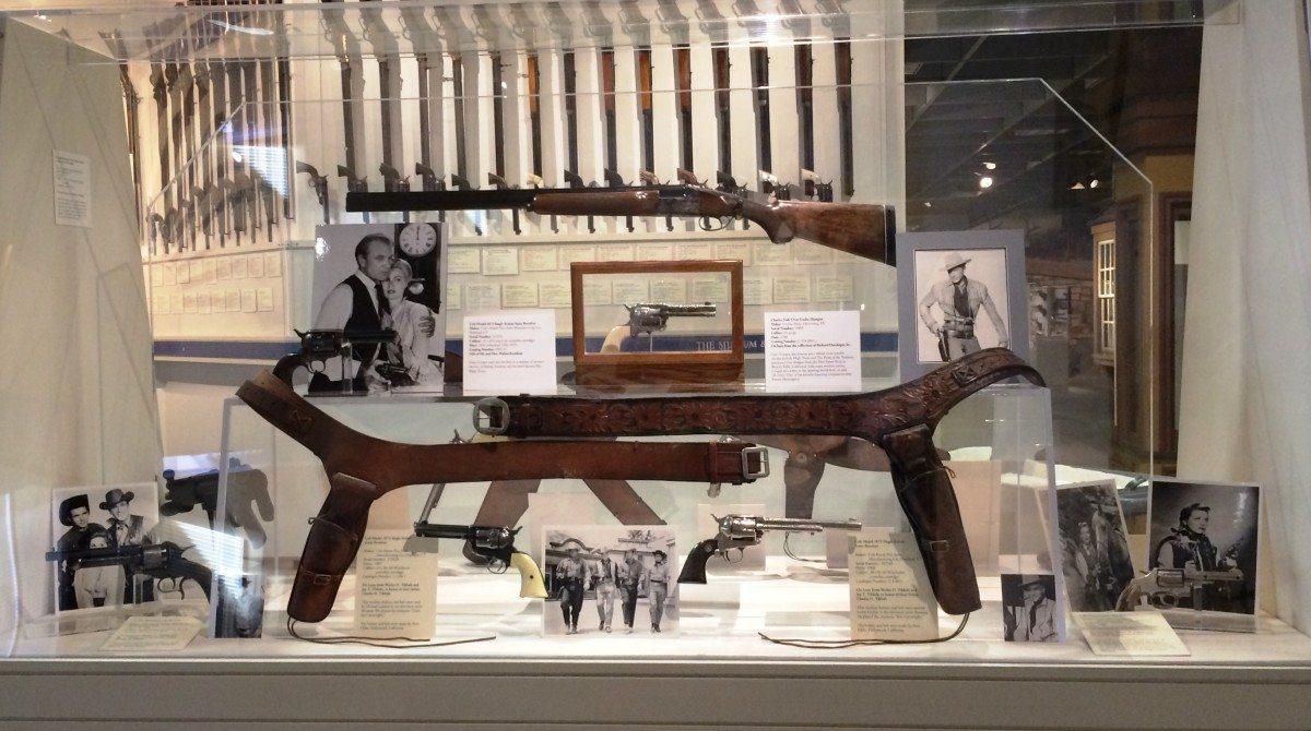 Movie and TV Guns Display, with Lone Ranger Gun