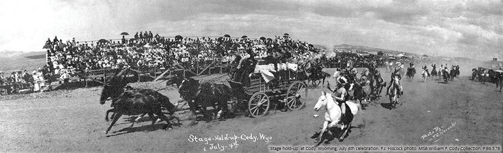 'Stage holdup' in Cody, Wyoming, July 4th. P.69.578