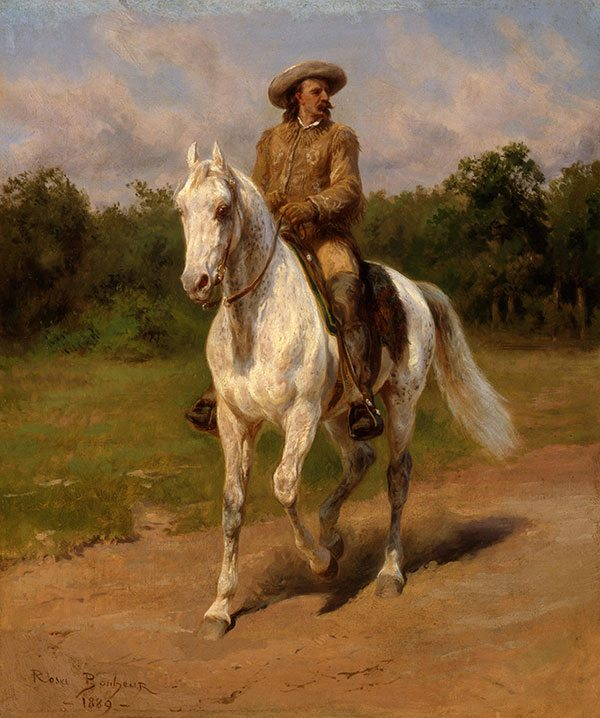 "Rosa Bonheur (1822–1899), ""Col. William F. Cody,"" 1889. Oil on canvas. Given in memory of William R. Coe and Mai Rogers Coe. 8.66."