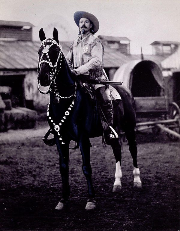 Buffalo Bill on Duke, undated. MS 71 Vincent Mercaldo Collection, McCracken Research Library. P.71.56.1