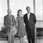 Harold McCracken and Mr. and Mrs. CV Whitney in the Whitney Gallery of Western Art
