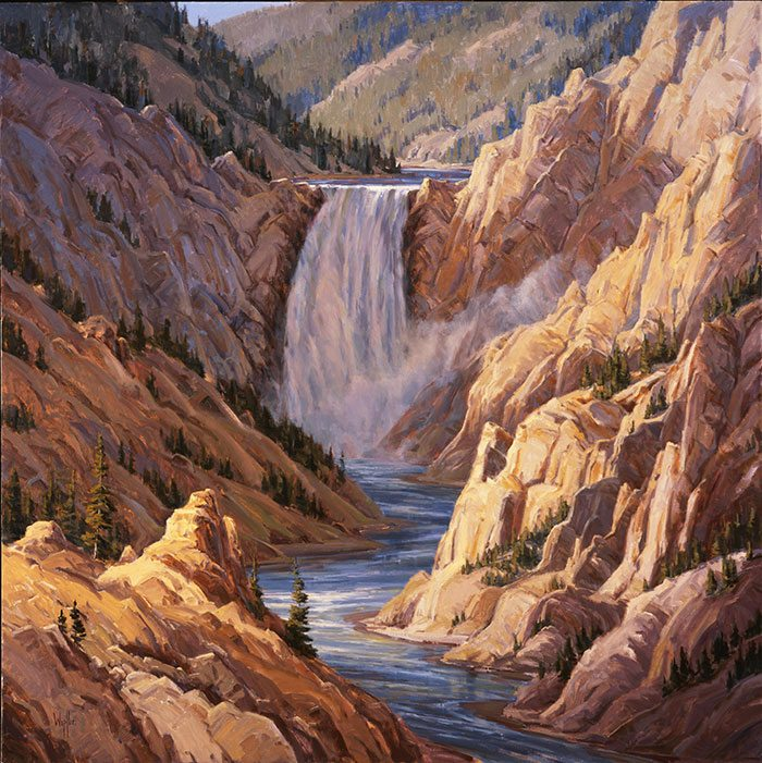 """Kathy Wipfler's """"Lower Falls of the Yellowstone."""" 10.07"""