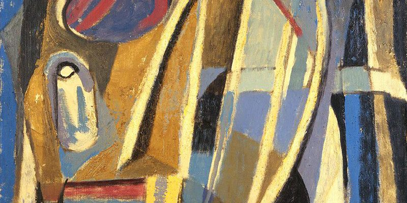 """Harry Jackson, """"Untitled,"""" 1948. Oil on canvas. Gift of The Coe Foundation. 5.99"""