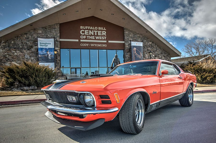 2014 raffle car: 1970 Ford Mustang Mach 1. Buffalo Bill Center of the West photo by Spencer Smith.