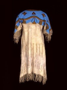 Dress, Lakota (Sioux), Northern Plains, ca. 1880. Tanned deer hide, glass beads. Chandler-Pohrt Collection, Gift of Mr. William D. Weiss, Buffalo Bill Center of the West, NA.202.355