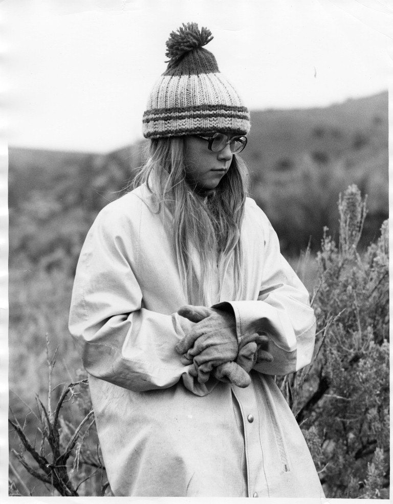 Girl with Knit Hat, Curtis Ranch Branding
