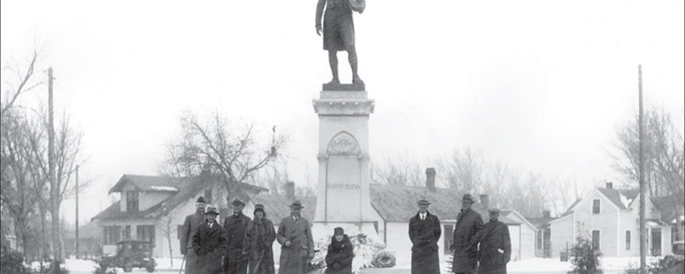Dedication of the Robert Burns statue in Cheyenne, Wyoming, on November 11, 1929. Wyoming State Archives, Department of State Parks and Cultural Resources. Sub Neg 13178