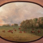 """Points West blog 013: George Catlin's """"An Oak Opening, Mouth of the Platte,"""" ca. 1855 - 1870. 29.86"""