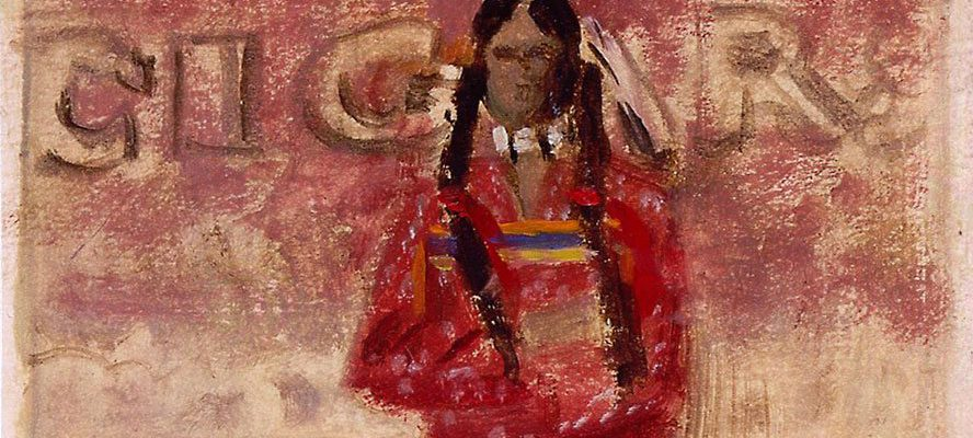 "James Bama (b. 1926). ""Sketch for A Contemporary Sioux Indian,"" 1977. Gift of Herbert G. Houze. 41.85"