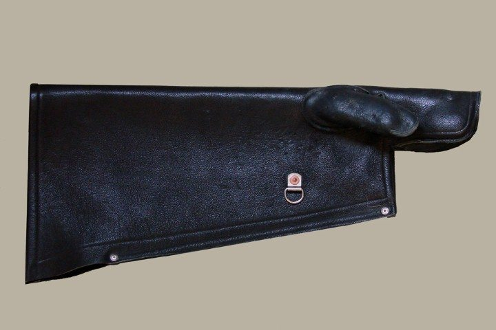 Glove Shield. Note the D-ring attached to the shield, which all our gloves have.