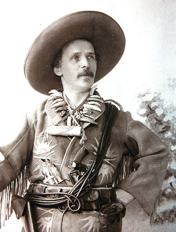 """Karl May as """"Old Shatterhand,"""" 1896. Photo courtesy Karl May Museum."""