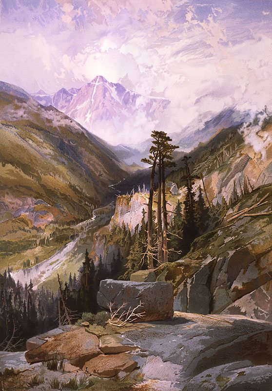 Yellowstone in art: After seeing Jackson's photograph of Holy Cross, Moran decided to see it for himself. 18.71.10