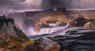 "Yellowstone in art: Thomas Moran's ""Great Falls of the Snake River, Idaho Territory."" 18.71.13"
