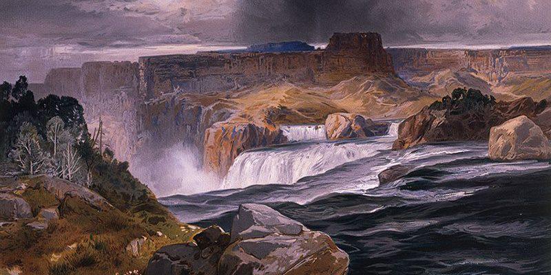 "Yellowstone in art: Thomas Moran's ""Great Falls of the Snake River, Idaho Territory."" 18.71.13"
