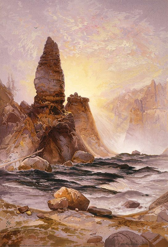 "Yellowstone in art: Thomas Moran's ""The Towers of Tower Falls, Yellowstone."" 18.71.9"