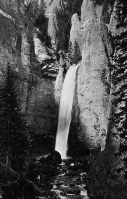 Photograph of Tower Falls. NPS 03115