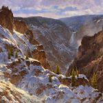 "Jim Wilcox ""Canyon Frosting."" William E. Weiss Purchase Award - 2001 Buffalo Bill Art Show. 12.01."