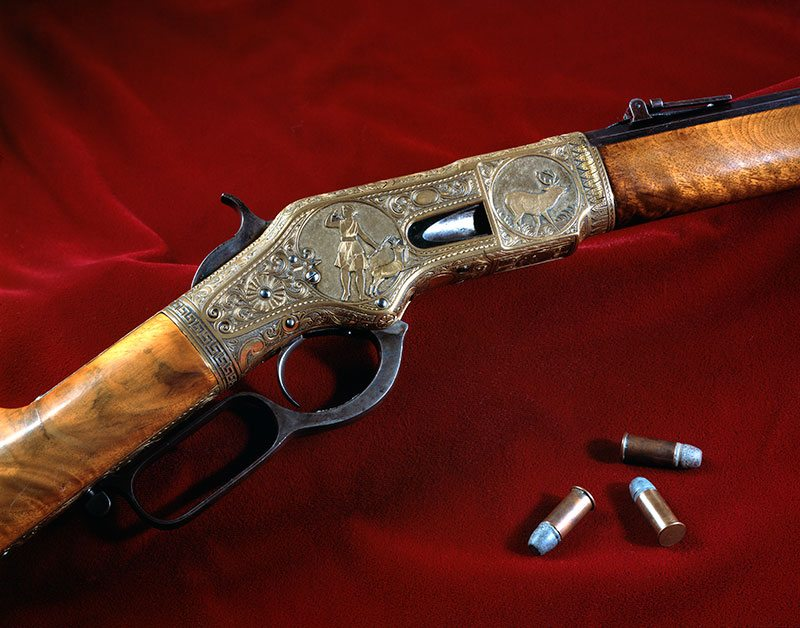 Winchester Model 1866 Deluxe Sporting Rifle. Gift of Olin Corporation, Winchester Arms Collection. 1988.8.3283