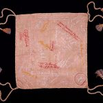 A Treasure from Our West: pillow cover embroidered by Annie Oakley. 1.69.2120