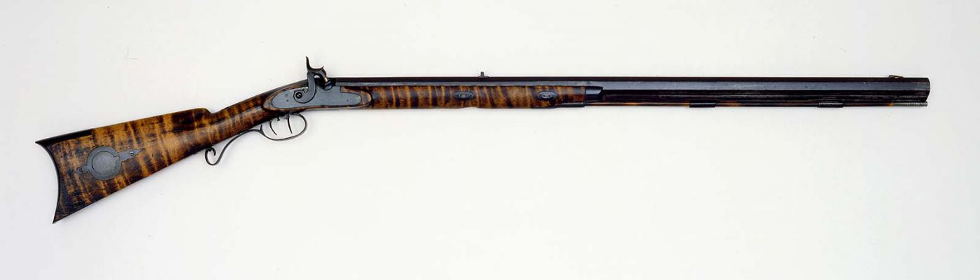 S. Hawken Half Stock Percussion Rifle, .50 caliber, 1849-1859. Gift of William B. Ruger, Sr. and Sturm, Ruger and Company. 1997.4.8