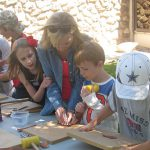 Students and families explore art and nature with contemporary artist Bently Spang