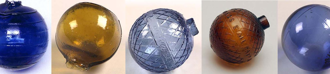 Glass target balls