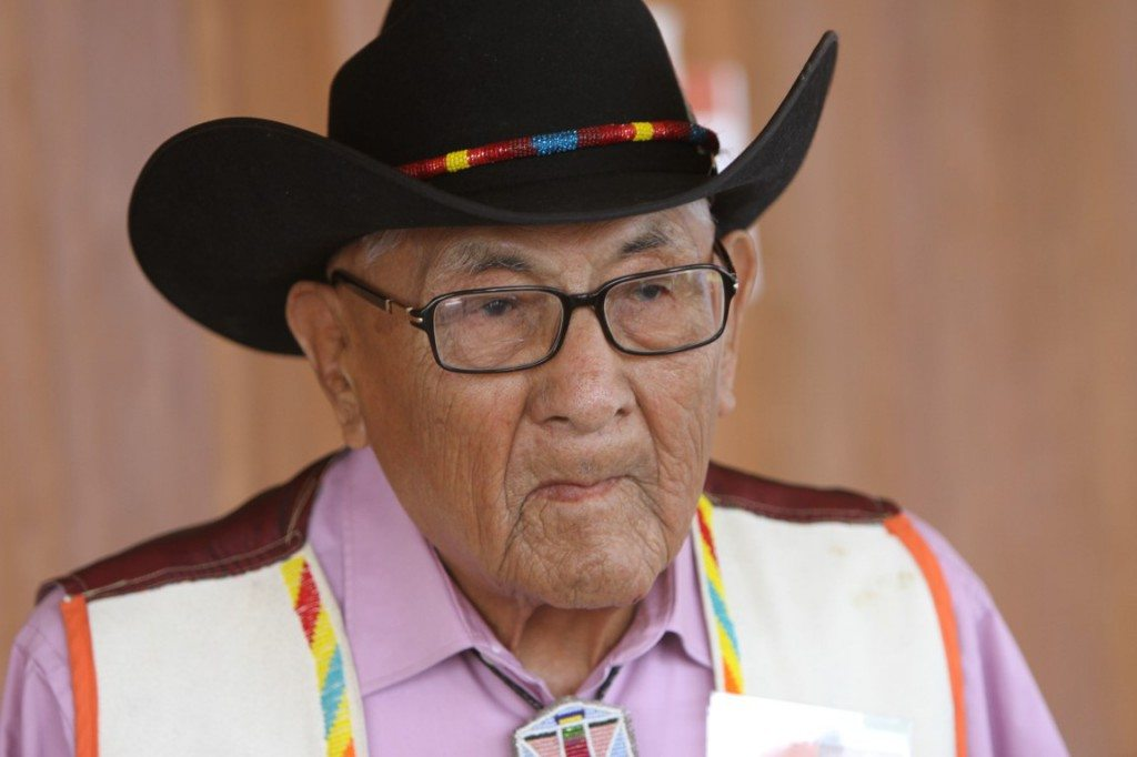 Dr. Joe Medicine Crow, Honored Elder for the Powwow.