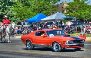 Our prize Mustang in Cody's July 3 and 4 parade!