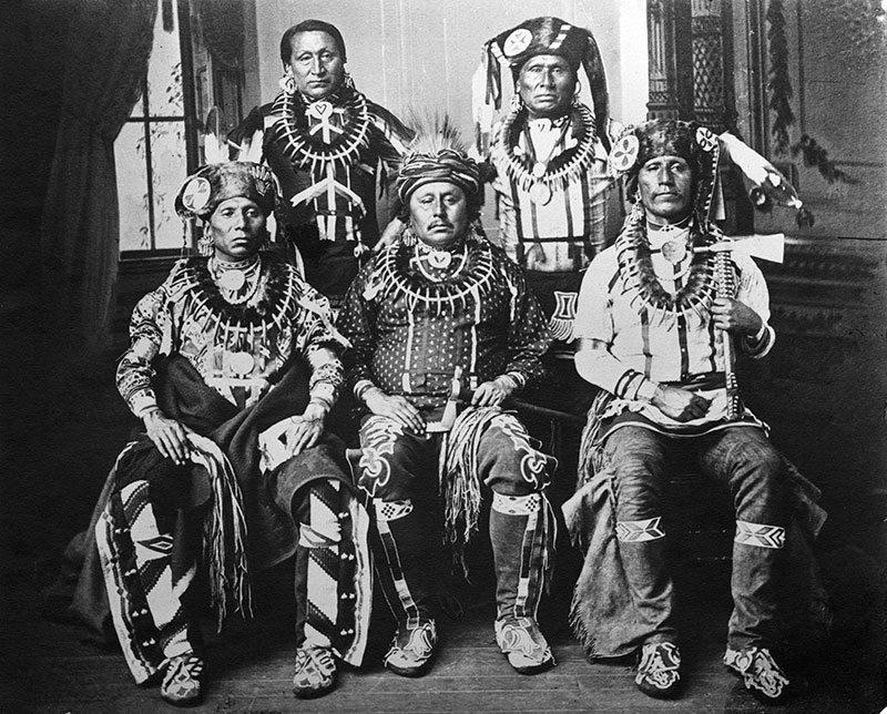 Otoe Delegation, January 1881. Washington, D.C. John K. Hillers. Adolf Spohr Collection. P.42.203
