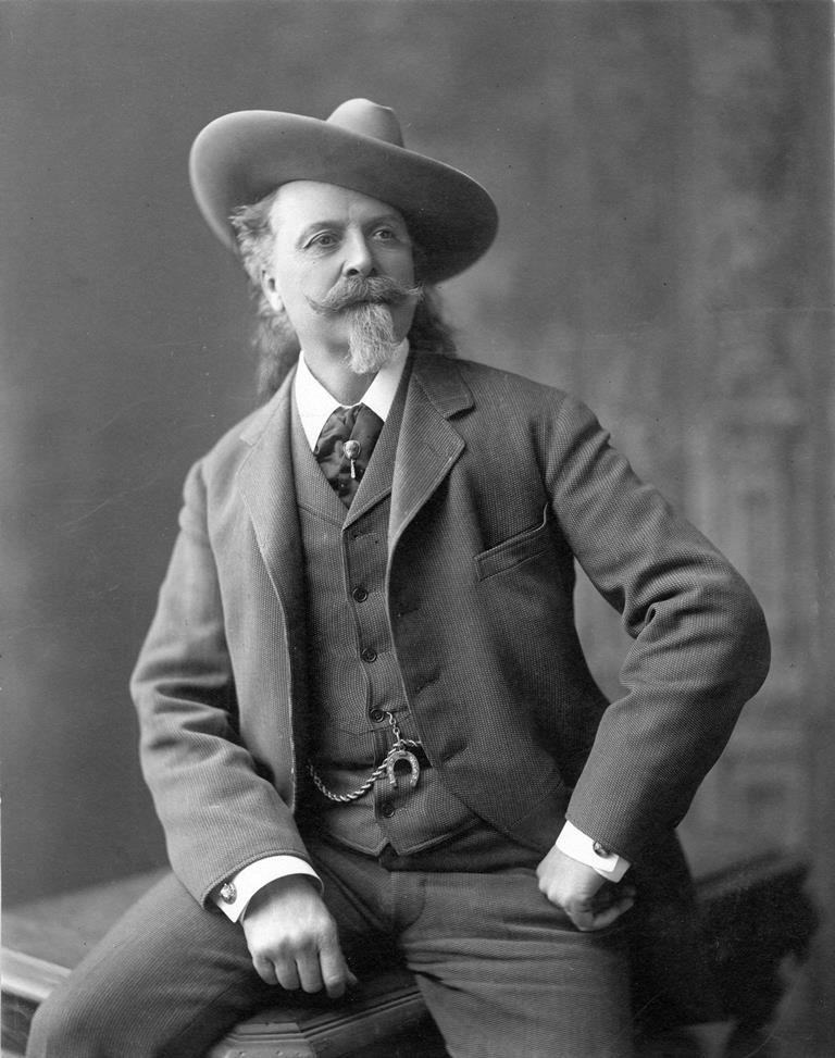"Sharp-dressed man William F. ""Buffalo Bill"" Cody. MS6 William F. Cody Collection, McCracken Research Library. P.69.1068"